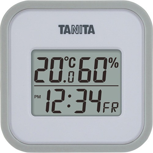 【タニタ デジタル温湿度計 グレー TT558GY 1コ入】[代引選択不可]