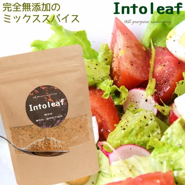 完全無添加 ミックススパイス intoleaf 100g 緑茶ミックス万能調味料 フレーバーソルト 送料無料 混合調味料 国産原料 海塩使用
