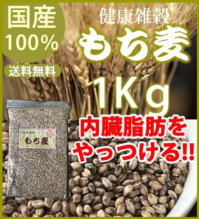 もち麦1kg(はだか麦) 国産100% 完全無添加 送料無料