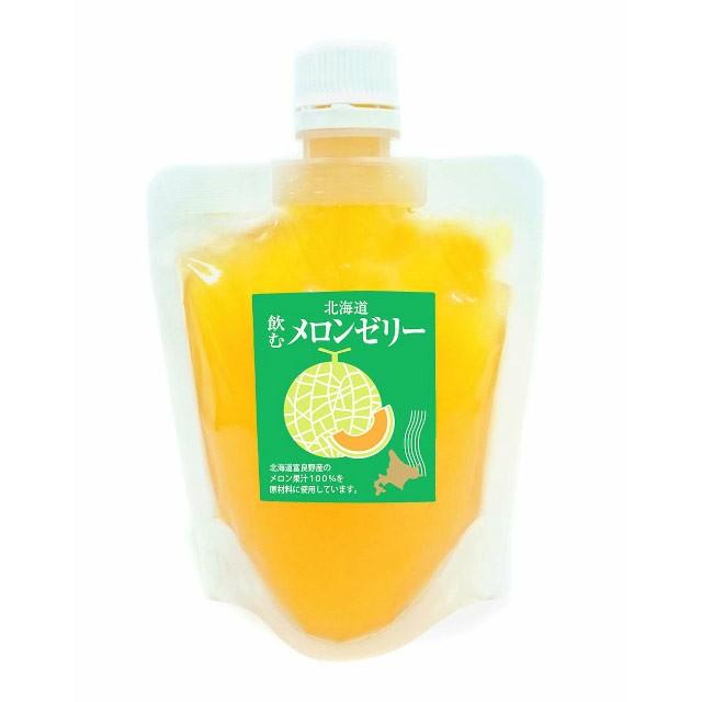 北海道飲むメロンゼリー 155g 昭和製菓 志濃里 函館お土産 赤肉メロン めろん
