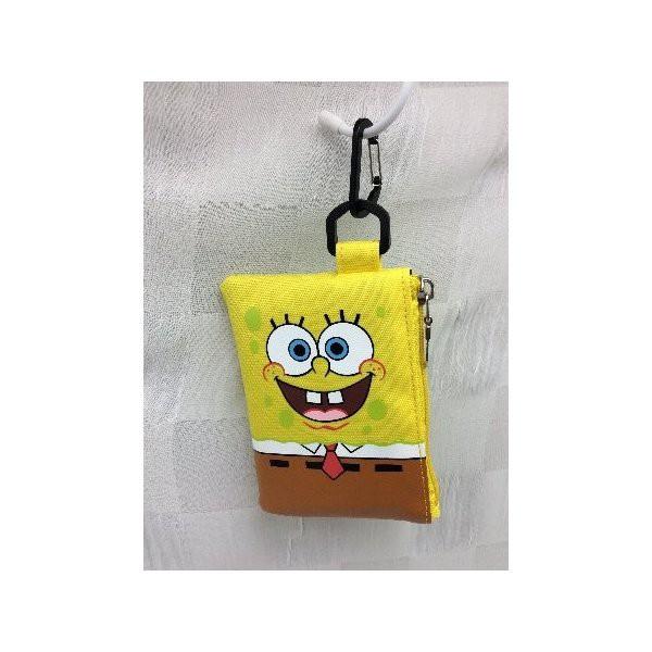 スポンジボブ SpongeBob  定期入れ ICカードケース パスポーチ msb-045 キャラクター かわいい 人気 アメ雑 アメリカン雑貨