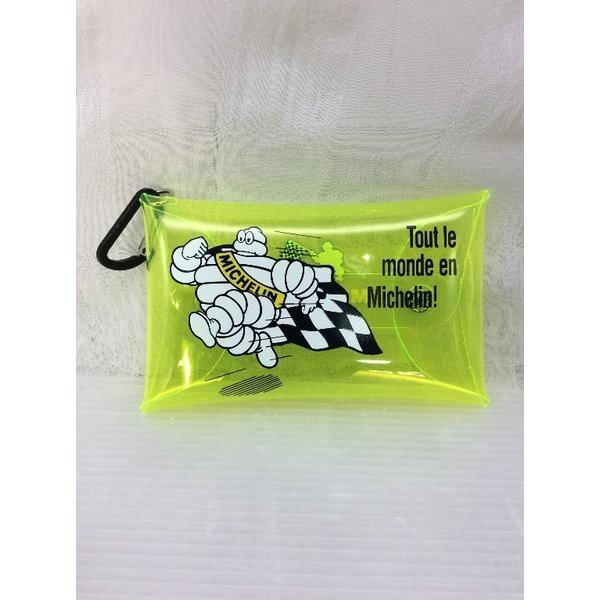 ミシュラン Michelin (イエロー)Clear pouch M/Run bib  ビバンダム 車 バイク アメリカン雑貨、アメリカ雑
