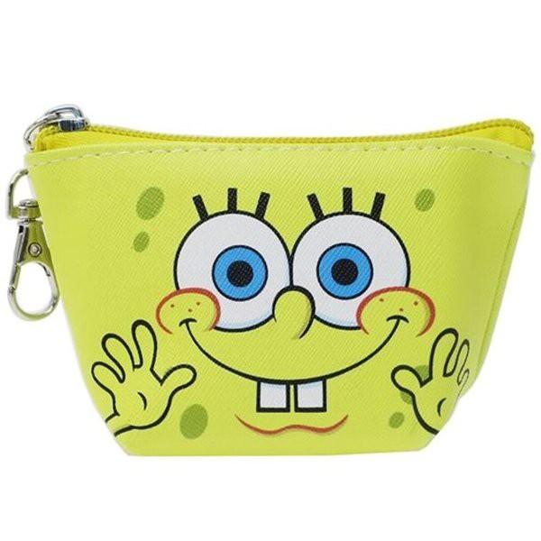 スポンジボブ SpongeBob ミニポーチ・デジカメポーチ スポンジボブ/三角 ミニポーチ/フェイス 人気 アメ雑 アメリカン雑貨