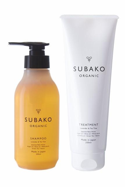 (日本製品)SUBAKOオーガニック はちみつシャンプー&トリートメント セット