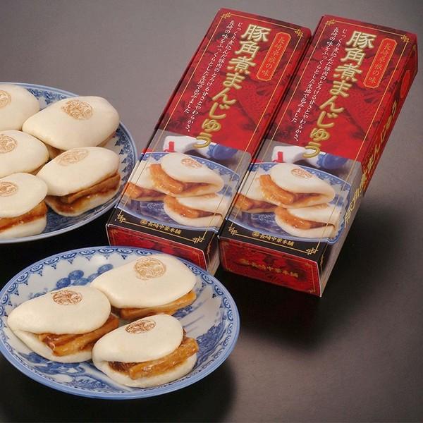 【冷凍】送料無料 角煮セット長崎豚角煮まんじゅう5個×2