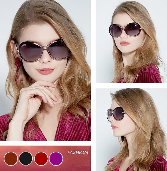 きらきらビジュー付きサングラス カジュアル UVカット 紫外線対策 偏光レンズ ビッグフレーム レディース その他