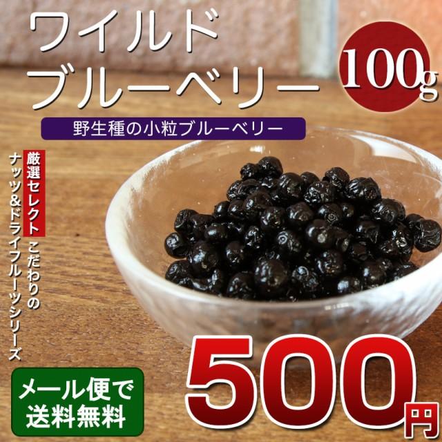 ワイルドブルーベリー 100g ブルーベリー ドライフルーツ ポリフェノール 食物繊維 ヨーグルト シリアル メール便 ポイント消化 送料無料