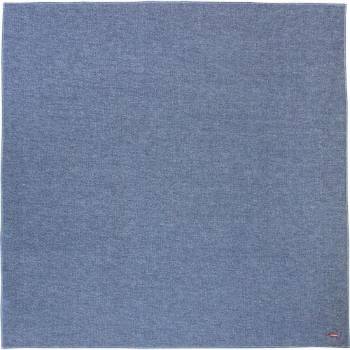 送料無料(沖縄・離島を除く)ソフトデニムふろしき 100cm ブルー 帯付袋入り エコバッグ 日本製 メール便可