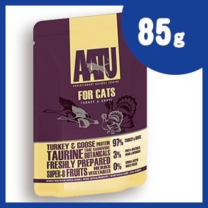 AATU (アートゥー) キャット ウェット ターキー&グース 85g キャットフード 【正規品】
