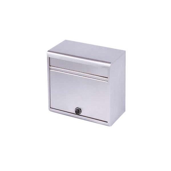 宅配ボックス 新聞ポスト ダイヤル付き 玄関 郵便入れ 郵便ポスト メールボックス 郵便受け ステンレスポスト PH-60D