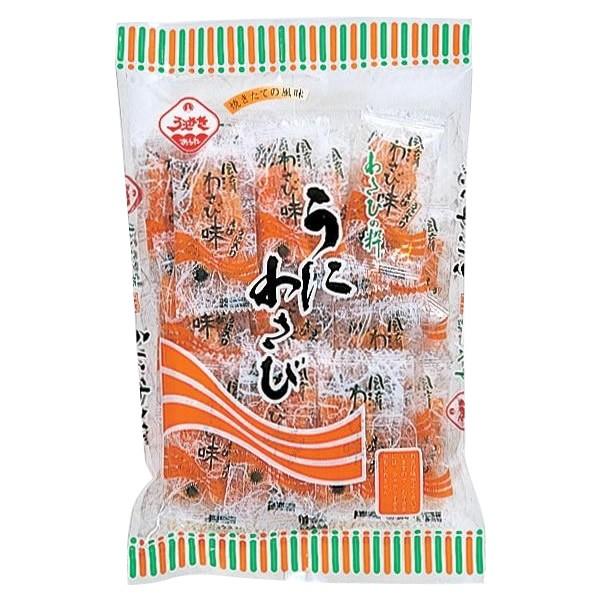 植垣米菓 こだわりの味 うにわさび 78g×12 同梱・代引不可 送料無料