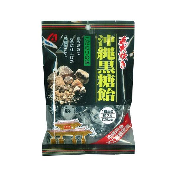 桃太郎製菓 直火炊き 沖縄黒糖飴 140g×24袋セット