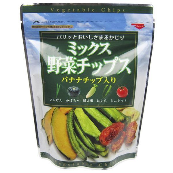 M ドライ バナナ フライ おくら いんげん かぼちゃ だいこん ベジタブル トマト フジサワ ミックス野菜チップス(100g) ×10個