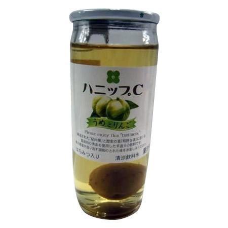 梅の実入り 飲料 ソフトドリンク プラム食品 ハニップC うめとりんご 200g×15本 2セット ホット 梅 瓶 はちみつ ジュース