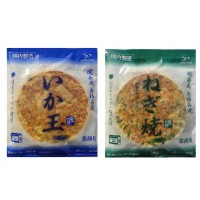 送料無料 同梱不可本場関西風 業務用 冷凍お好み焼き いか玉&ねぎ焼 各5枚セット電子レンジ インスタント 冷凍食品