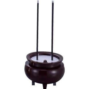 仏壇 電気 電子 安心のお線香ミニ ASE-5201 ブラウン 電池 せんこう お供え お盆 便利 仏具 お彼岸