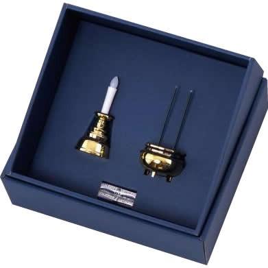 C 法要 仏壇 お仏壇 電池式 仏具 便利 日本製 ゴールド 安心のろうそく・お線香セット AGI-101 ゴールド