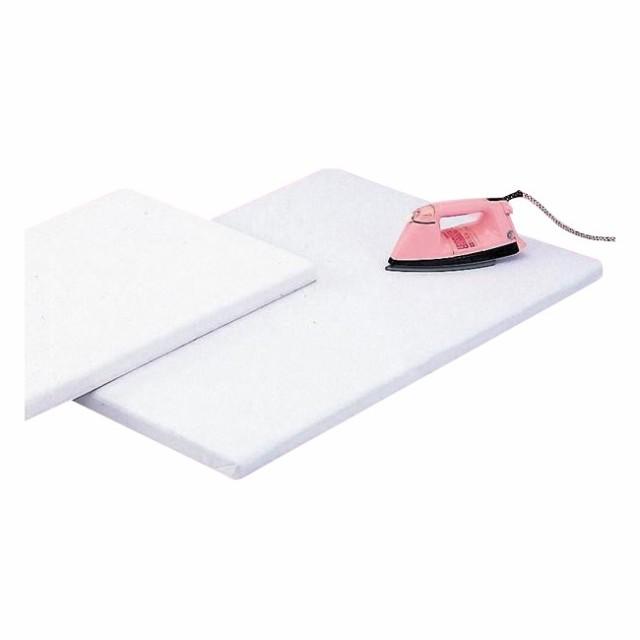 スリム 床上 日本製 平型アイロン台 白 (約90×60×厚さ4cm) No60 ホワイト 立て収納 シンプル 収納 テーブル上 板