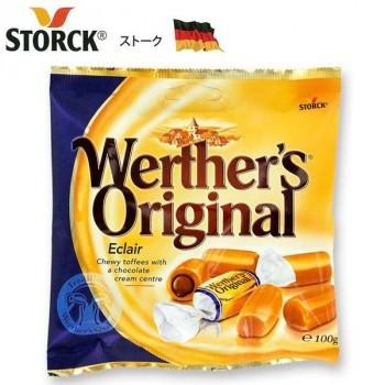 送料無料 同梱不可ストーク ヴェルタースオリジナル エクレア 100g×24袋セットお菓子 キャラメル チョコレートクリーム