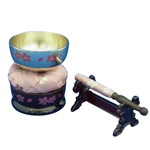 家具調 りん 仏具 華やか やさしい 音色 仏壇 コンパクト 日本製 桜蒔絵 おりんセット