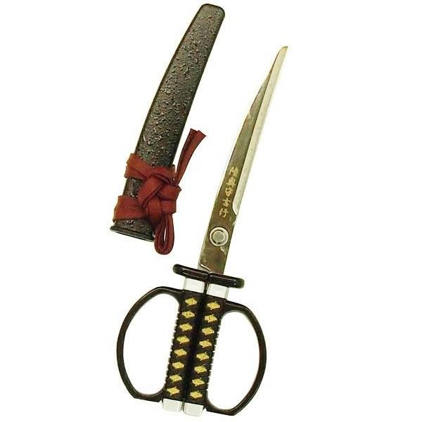 文房具 日本製 おもしろ文具NIKKEN ニッケン刃物 関伝の美 日本刀はさみ 坂本龍馬(陸奥守吉行)モデル SW-30R C