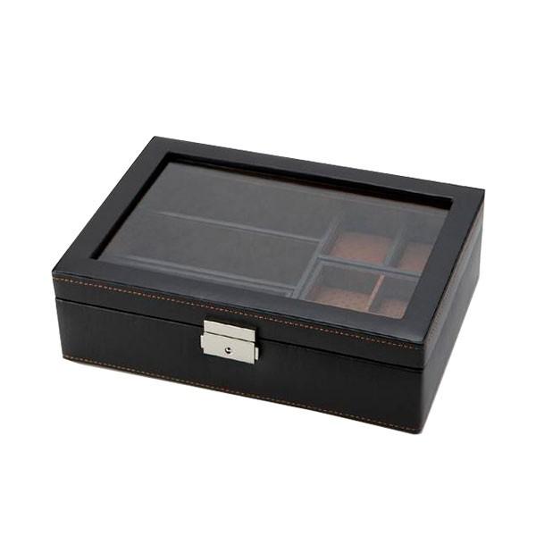 収納 フタつき 小物茶谷産業 LA VITA IDEALE(ラヴィータイデアーレ) メンズボックスL 240-576BK C
