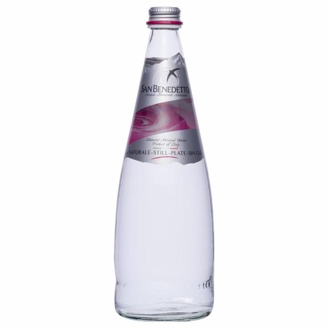 Sanbenedetto サンベネデット ナチュラルミネラルウォーター(炭酸なし) グラスボトル 750ml×12本(送料無料)直送