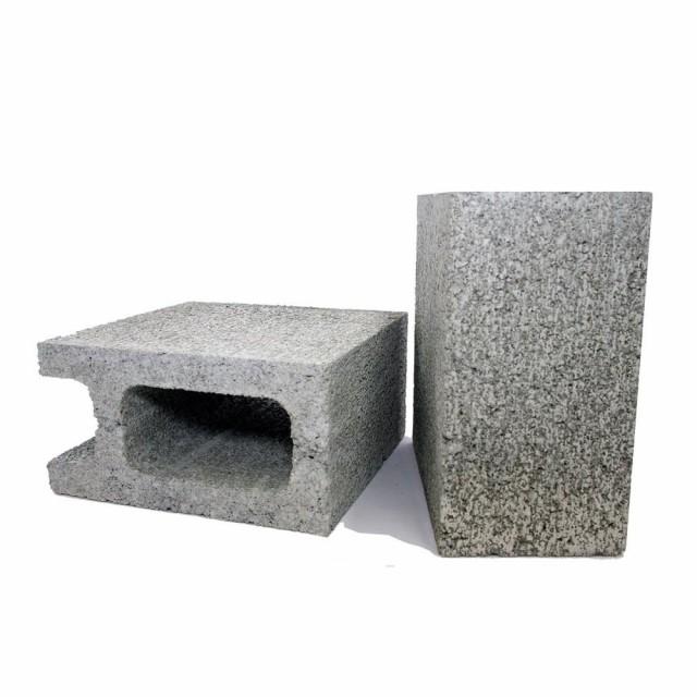 【同梱・代引き不可】エクステリア DIY グレー久保田セメント工業 コンクリートブロック 10cm 1/2コーナー コンクリート色 2個セッ