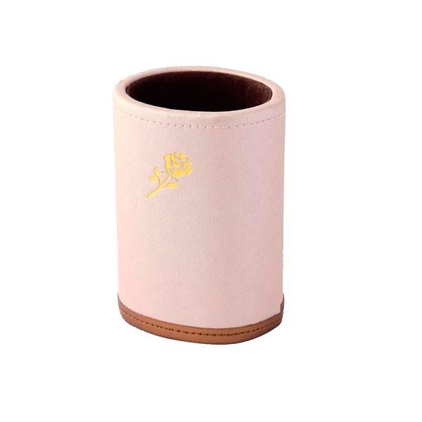 上品 バラ めがね 革 エレガント ギフト プレゼント おしゃれ 立て ピンク 皮 メガネスタンド ローズ 240-370 C