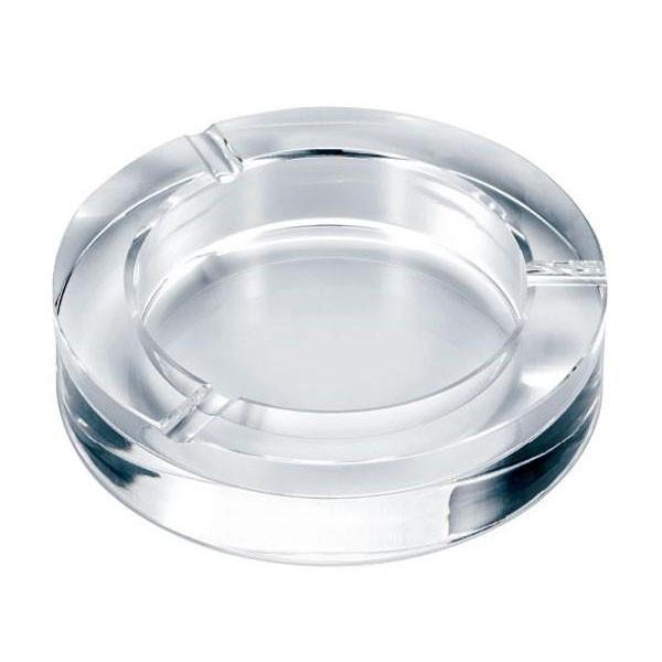 【同梱・代引き不可】ペンギン 卓上灰皿 クリスタルガラス灰皿 サークルカット