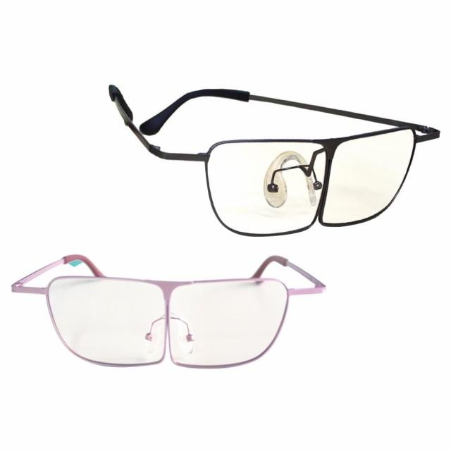 M 作業用 紫外線カット 眼鏡型ルーペ 虫めがね 敬老の日 プレゼント 拡大鏡 ブルーライトカット オーバーグラス メガネ式 両手が使える