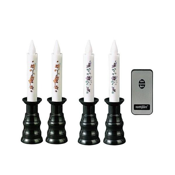 花 リアル 仏壇 リモコン式 安心LEDローソク 1対 簡易 簡単 防災 便利 デザイン おしゃれ