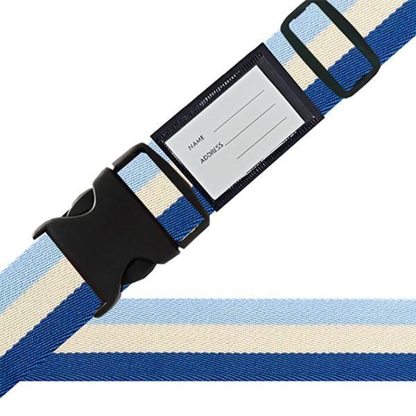 スーツケースベルト ワンタッチベルト 国旗柄 ブルー