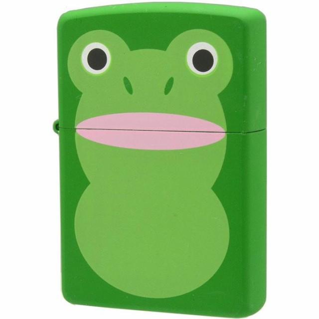 デザイン かわいい ネタ ZIPPO(ジッポー) オイルライター アニマル カエル ケロケロ 63320398 ギフト キャラ プレゼント ユニーク 動物