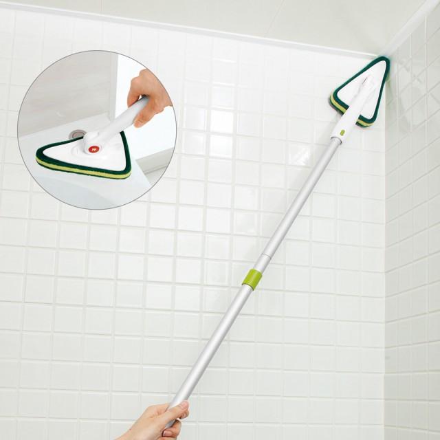 C バスクリーナー スポンジ 掃除 おふろブラシ 天井ブラシ 浴槽ブラシ 湯垢 ロング 洗浄 バスブラシ ハンディ たわし 水あか お風呂の天