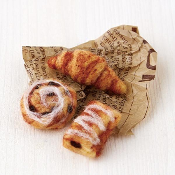 ハマナカ フェルトキット フェルト羊毛の小さなパン屋さん ヴィエノワズリーのセット1 H441-471 送料無料 後払い可