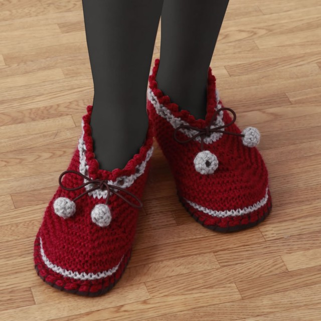 【同梱・代引き不可】編み物キット 手芸 手作りキットすべりにくい手編みルームシューズエンジLスリッパ 冬 スリッパ 編み棒 裁縫 編み針