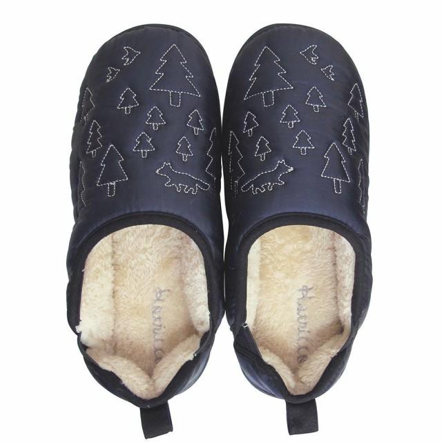 レディース 室内履き ルームシューズBoa slippers(ボアスリッパ) ダウンスリッパ ネイビー Mサイズ(22-24cm) 72176 C