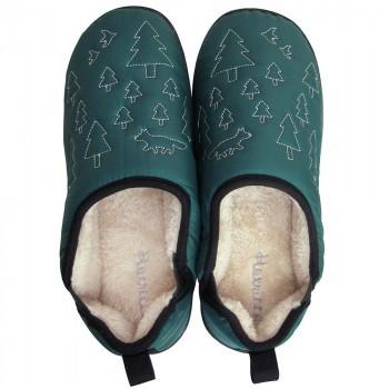 ルームシューズ レッグウェア レディースBoa slippers(ボアスリッパ) ダウンスリッパ グリーン Lサイズ(25-27cm) 72177 C