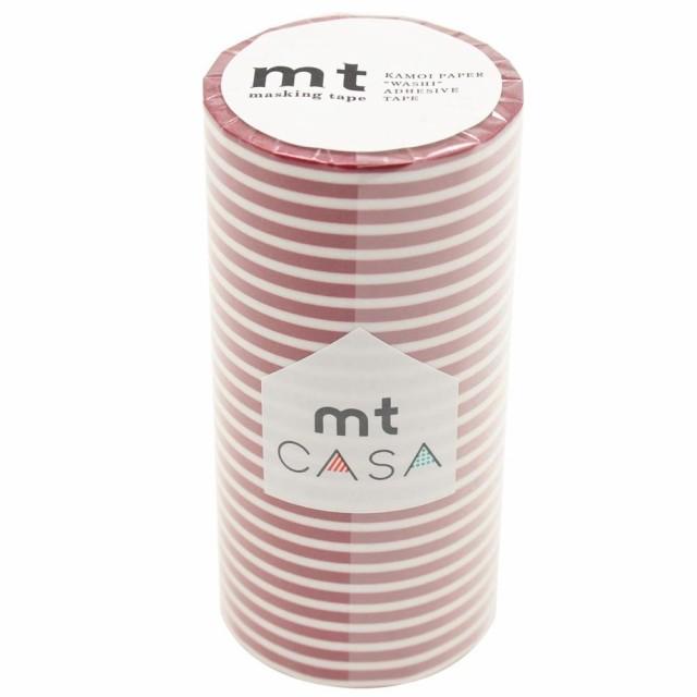 C mt CASA マスキングテープ 100mm ボーダー・いちご MTCA1108