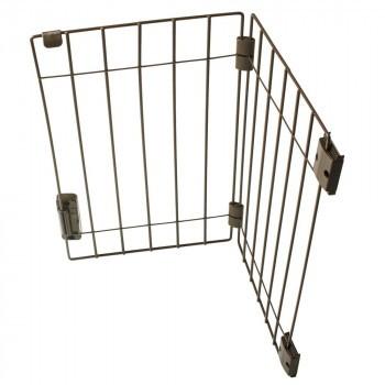 ペット 脱走防止 侵入防止 ウェルカムドッグフェンス ブラウン PG6055 B 玄関 柵 小型犬 簡単取付 犬