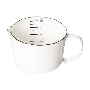 【同梱・代引き不可】料理 はかり ホワイトパール金属 ブランキッチン ホーローメジャーカップ400mL HB-4434調理器具 白 台所 おしゃれ
