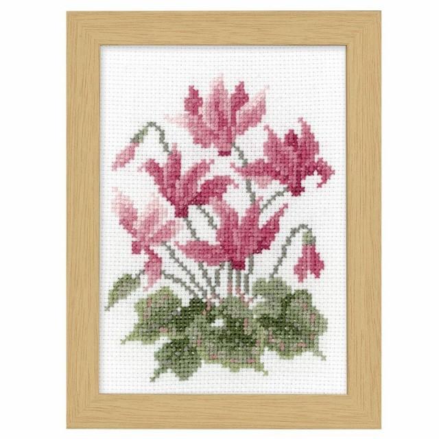 刺繍 裁縫 手芸オリムパス クロス・ステッチ刺しゅうキット 12ヶ月の花フレーム 11月シクラメン 7518装飾 ハンドメイド 壁 手作り アート