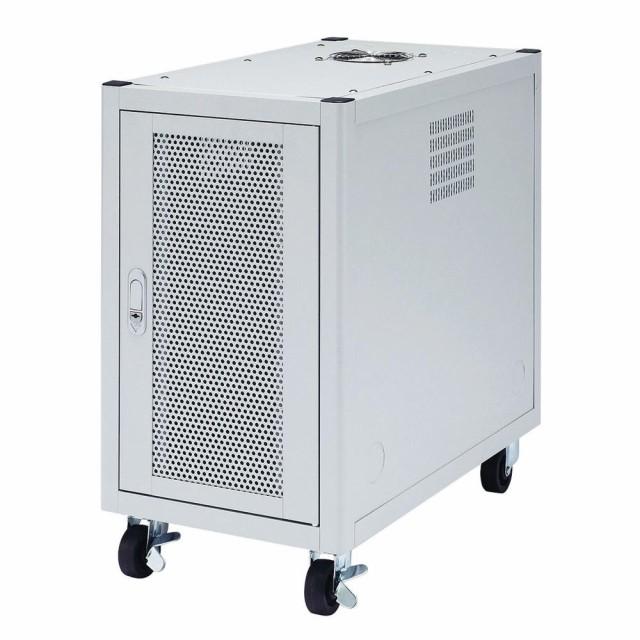 M 放熱 メッシュパネル ハブ収納ボックス サーバーラック キャスター ルーター 設置 CPIUボックス 通気性 サンワサプライ 縦収納19イン