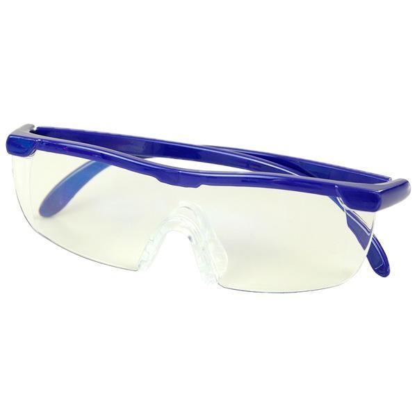 眼鏡 老眼鏡 ブルーライト WETECH ブルーライトカット メガネ型ルーペ WJ-8069 パソコン ポーチ付き 拡大鏡 1.6倍 ハンズフリー