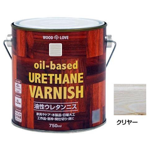 塗料 着色 ペンキ ニッペホームペイント WOODLOVE 油性ウレタンニス クリヤー 750ml DIY 兼用 ニス 日曜大工 家具 ツヤ 木製品