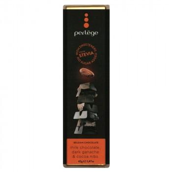 perlege(ペルレージュ) ステビア ミルクチョコ&カカオニブガナッシュ 42g×15個セット M