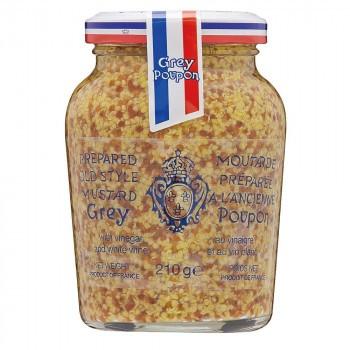 【送料無料】【代引き不可】Grey Poupon(グレープポン) オールドスタイル(種入り) 210g×12個セット「他の商品と同梱不可/北海道、沖縄、