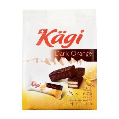 チョコレート スイーツ おやつ Kagi(カーギ) チョコウエハース ミニダークオレンジバッグ 125g×12袋 スイス 食品 チョコレート菓子