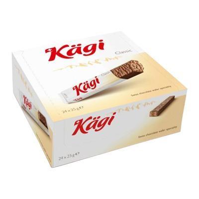 チョコレート チョコレート菓子 おやつ Kagi(カーギ) チョコウエハース ミルクバー 25g×24本 スイス ウエハース お菓子 食品 スイー